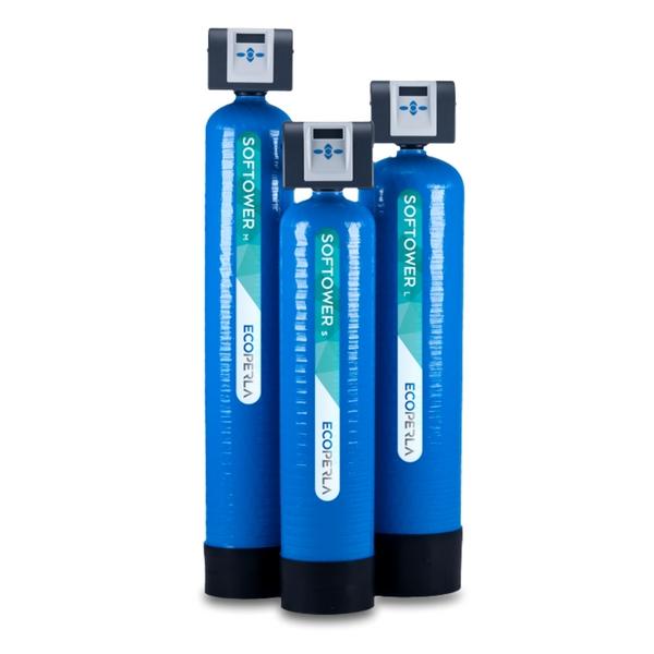 Wydajne dwuczęściowe zmiękczacze wody Ecoperla Softower