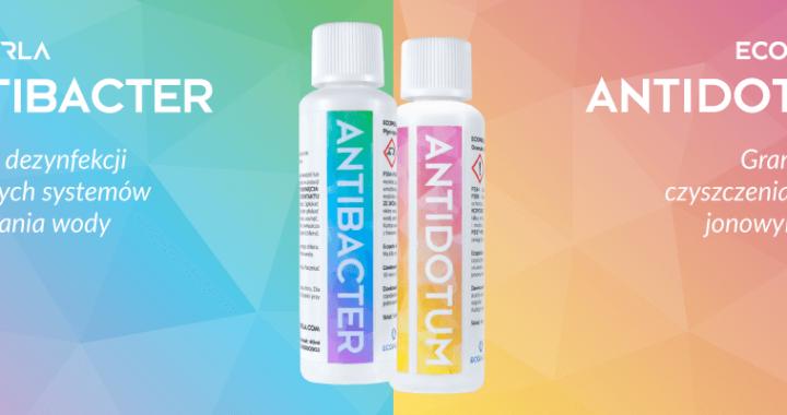 Ecoperla Antibacter i Ecoperla Antidotum - nowości od marki Ecoperla do konserwacji urządzeń filtracyjnych